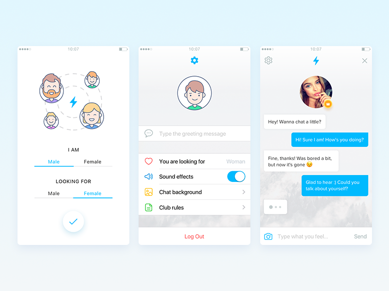 VoltsApp - anonymous random chat with real people looking dating random anonymous ios app volts chat