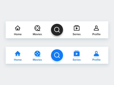 Tab Bar for simple Movie App android app icons bar tab tv movie