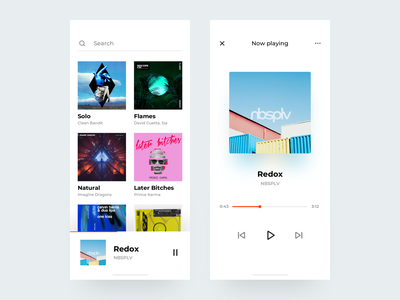 Simple Music App list song singer player music nbsplv app clean iphonex radio