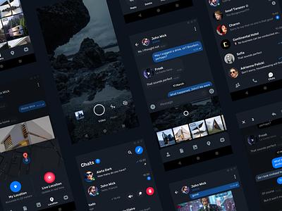 Telegram Messenger for Android – Dark mode design ux ui interface camera photo file app android material messenger telegram