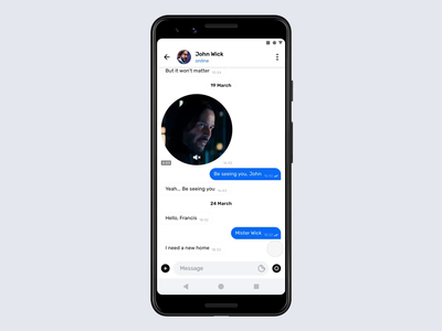 Telegram Messenger for Android – Attachments principle photo messenger material mobile video animation interface ux ui telegram attachment file design camera app android