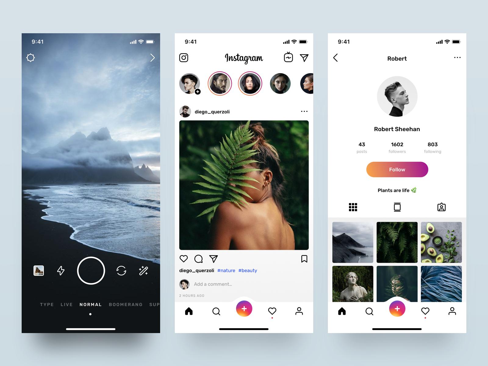 Instagram Redesign Visual Concept