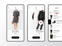 Concept of shopping App brands wishlist swipe store shop luxury principle mobile ios badoo tinder ux ui app