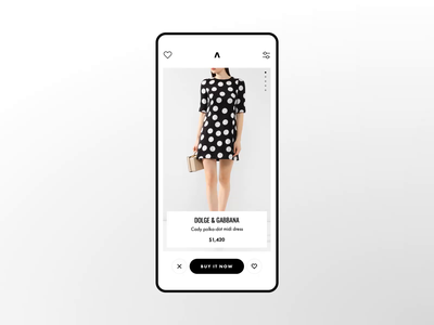 Concept of shopping App - Animation dating principle ui design interface ios mobile app mobile swipe tinder luxury concept badoo brands shopping