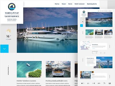 Marina Punat responsive web site web responsive marina nautical