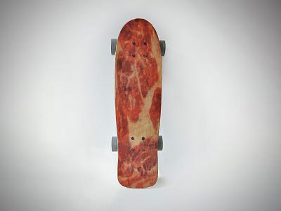 Parma Ham Skateboard pigmenttransfer sculpture ham parmaham illustration skate sk8 deck design skate deck skateboard graphic skateboarddesign skateboard graphics skateboard design skateboard