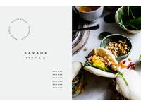 """""""Savage Public"""" branding"""