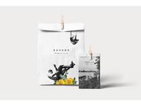 """""""Savage Public"""" branding & packaging"""
