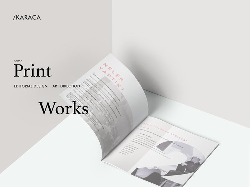 Karaca / print work art direction editorial print typography layout creative design minimal