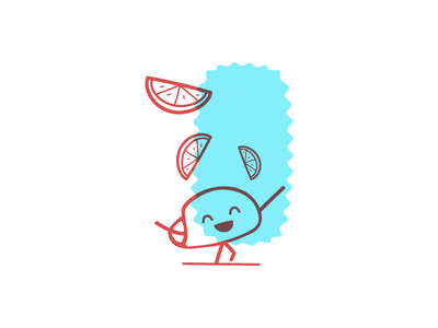 Tako Vibes Only graphic design design vector illustrator illustration red blue character mexican lime taco