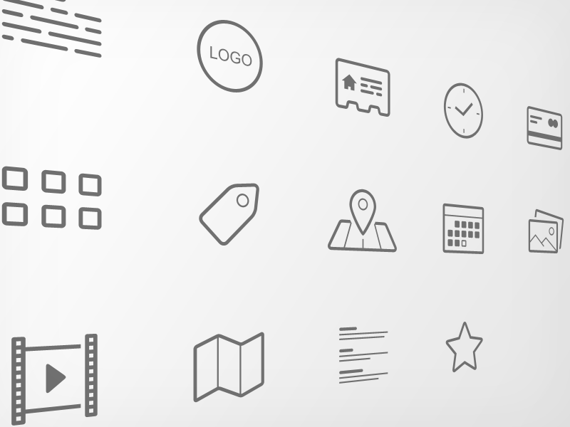 project icon set icon set simple glyph clean line minimal symbol vector ai psd pack