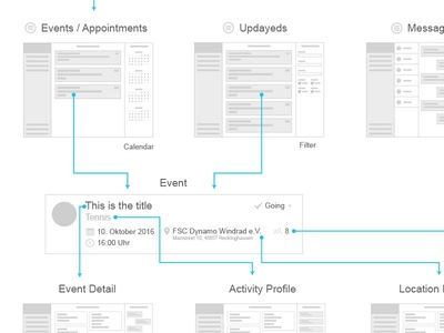 Event Webapp Wireframe