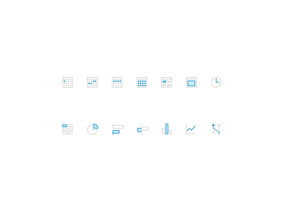 Tiny Analytic Icons clean simple table data chart pixelperfect small tiny icon calendar analytics