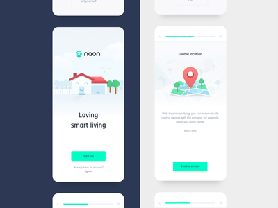 Animated illustration for a smart home app