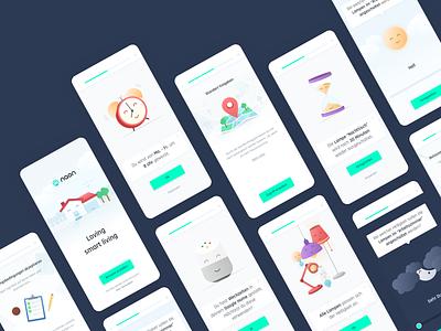 Illustration design for a smart home app clean simple ui uxui ux icon smarthome mobile illustration