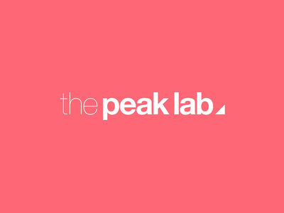 the peak lab logo animation clean simple logodesign animation aftereffects brand experience trinagle logo