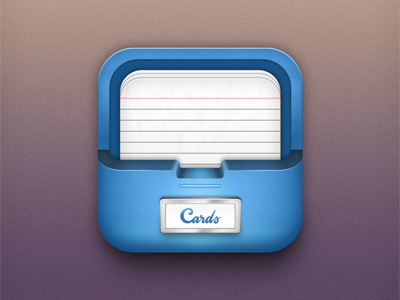 Notecards app icon icon app application icons cards note mobile ios iphone