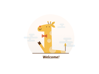 Welcome giraffe