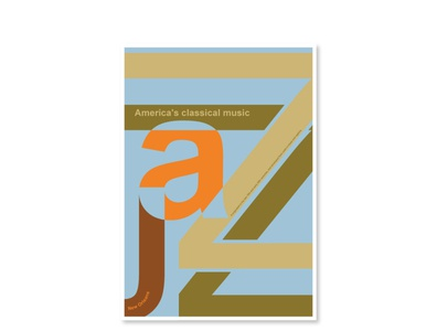 Jazz Amercia´s classical music design typography typo vector poster art jazz