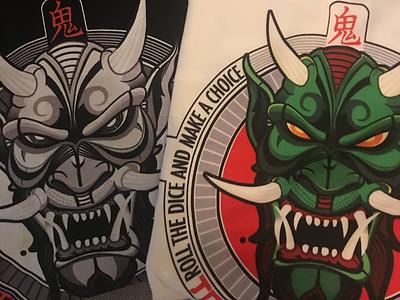 Oni demon t-shirt evil vector demon oni