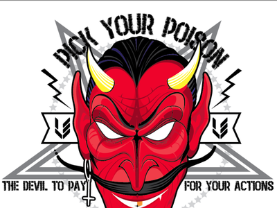 The Devil to pay action poison vector