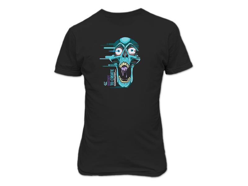 DTC tee vector skull t-shirt