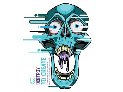 DTC t-shirt skull
