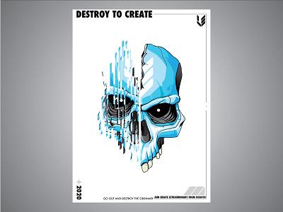 Dtc poster vector skull poster