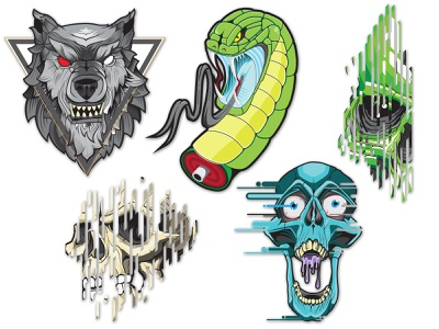 Stickers graphics vector stickers