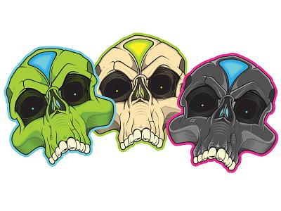 Skull stickers stickers skull vector