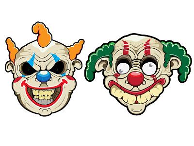 clowns funny cartoon clown clowns vector