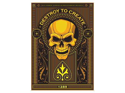 Skull poster illustrator scull poster vector