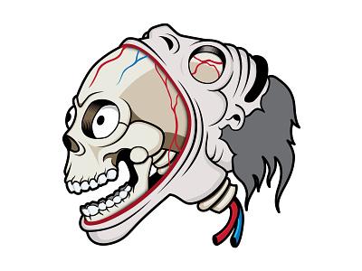 Cartoon head streetart vector