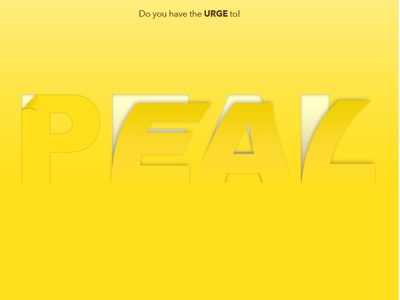 Do You Have The Urge To poster yellow typography chequita bannana