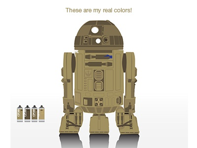 R2D2 real colors!