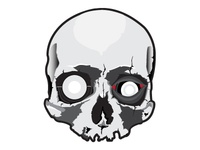 Scull Sticker