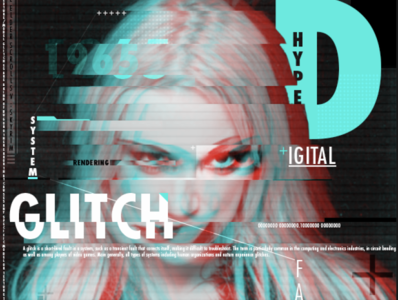 The Glitch 80 typography effects poster