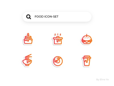 Day1-Food icon search series icon set food icon ui ui100days