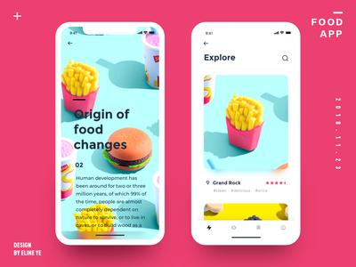 Daily design 18/100 - Food UI app motion