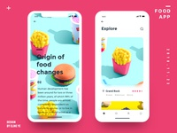 Daily design 18/100 - Food UI app motion