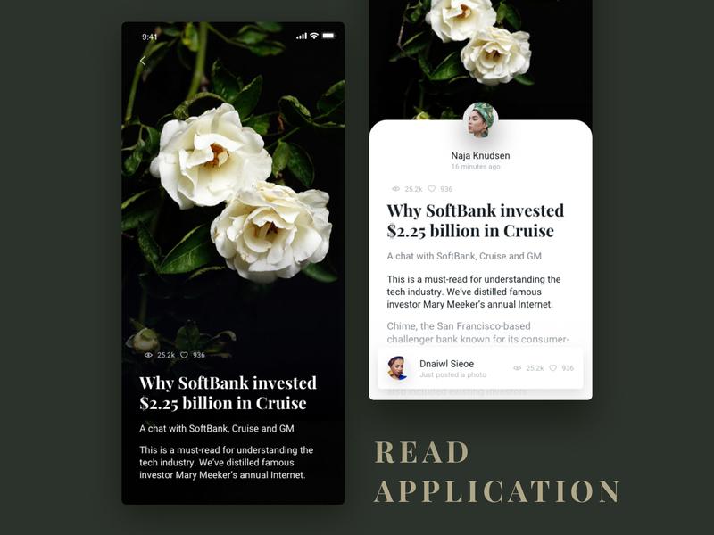 Daily design 20/100 - Read app read app black book read flower motion animation design ui100days daily ui animation app ui ux interface gif dynamics uidesign design