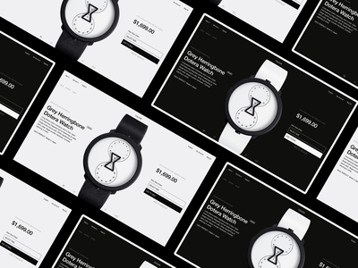 Daily design 21/100 - Watch  Website webdesign white black and white contrast webdesign web watch design uidesign dynamics gif interface ux ui app animation daily ui ui100days animation design motion black