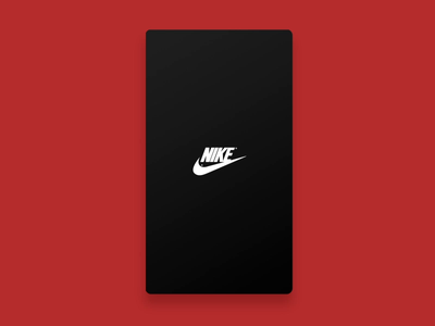 Daily design 30/100 - ui interface app of Nike sports shoes colorful uikit daily ui motion uidesign app gif interface ux ui100days design ui card nike sports shoes black  white black and red