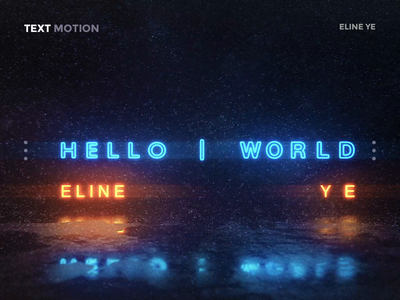 Daily design 31/100 - hello world text motion elineye motion art video cold snow cool text ui design ui100days ux interface gif app uidesign motion daily ui uikit colorful hello world hello