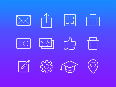 Stroked Icons icons