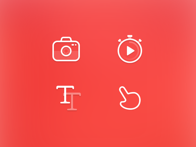 Icons icon camera stopwatch font scratch