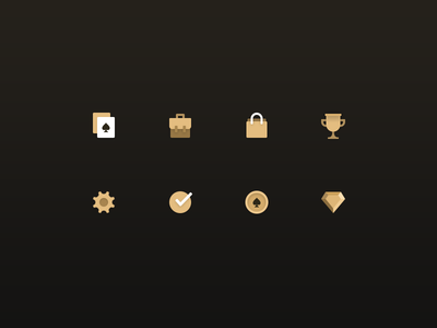 Poker app icons
