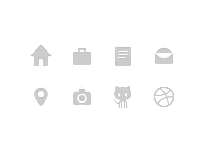 Icons icon github dribbble