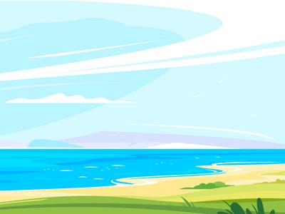 Seaside lanscape