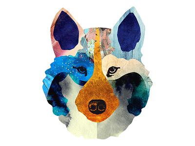 ULV wolf collage illustration artwork